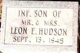 HUDSON, INFANT SON - Johnson County, Arkansas   INFANT SON HUDSON - Arkansas Gravestone Photos
