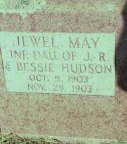 HUDSON, JEWEL MAY - Johnson County, Arkansas   JEWEL MAY HUDSON - Arkansas Gravestone Photos