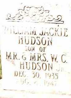 HUDSON, JR, WILLIAM JACKIE - Johnson County, Arkansas   WILLIAM JACKIE HUDSON, JR - Arkansas Gravestone Photos