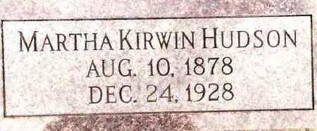 HUDSON, MARTHA - Johnson County, Arkansas | MARTHA HUDSON - Arkansas Gravestone Photos