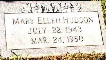 HUDSON, MARY ELLEN - Johnson County, Arkansas | MARY ELLEN HUDSON - Arkansas Gravestone Photos
