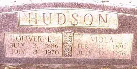 HUDSON, OLIVER L - Johnson County, Arkansas   OLIVER L HUDSON - Arkansas Gravestone Photos