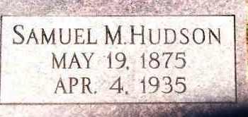 HUDSON, SAMUEL M - Johnson County, Arkansas | SAMUEL M HUDSON - Arkansas Gravestone Photos