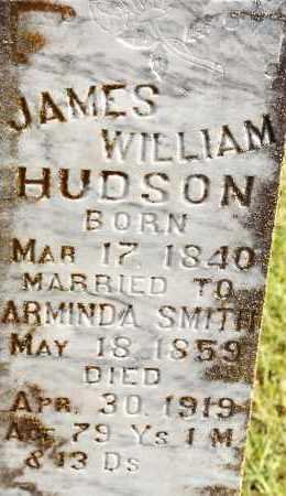 HUDSON, JAMES WILLIAM - Johnson County, Arkansas | JAMES WILLIAM HUDSON - Arkansas Gravestone Photos