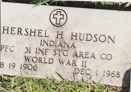 HUDSON (VETERAN WWII), HERSHEL H - Johnson County, Arkansas | HERSHEL H HUDSON (VETERAN WWII) - Arkansas Gravestone Photos
