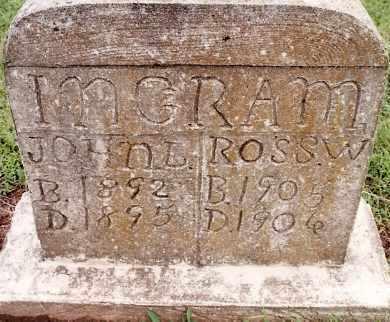 INGRAM, JOHN L - Johnson County, Arkansas | JOHN L INGRAM - Arkansas Gravestone Photos