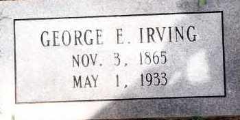 IRVING, GEORGE E - Johnson County, Arkansas | GEORGE E IRVING - Arkansas Gravestone Photos