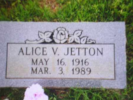 JETTON, ALICE V - Johnson County, Arkansas | ALICE V JETTON - Arkansas Gravestone Photos