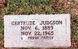 JUDGSON, GERTRUDE - Johnson County, Arkansas | GERTRUDE JUDGSON - Arkansas Gravestone Photos