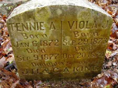 KING, TENNIE A. - Johnson County, Arkansas | TENNIE A. KING - Arkansas Gravestone Photos