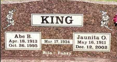 KING (VETERAN WWII), ABE B - Johnson County, Arkansas | ABE B KING (VETERAN WWII) - Arkansas Gravestone Photos