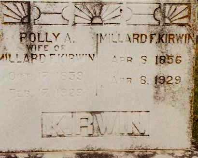 KIRWIN, MILLARD F - Johnson County, Arkansas | MILLARD F KIRWIN - Arkansas Gravestone Photos