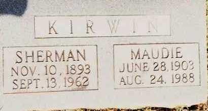 KIRWIN, MAUDIE - Johnson County, Arkansas | MAUDIE KIRWIN - Arkansas Gravestone Photos