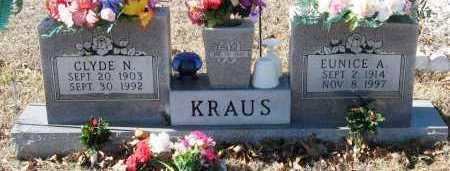 KRAUS, CLYDE N - Johnson County, Arkansas | CLYDE N KRAUS - Arkansas Gravestone Photos