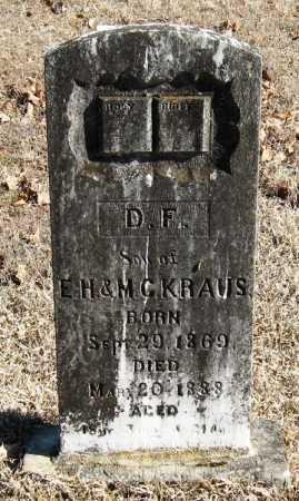 KRAUS, D  F - Johnson County, Arkansas | D  F KRAUS - Arkansas Gravestone Photos