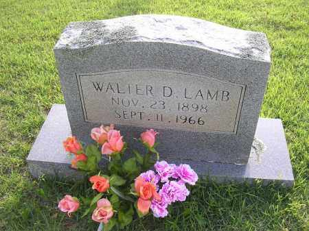 LAMB, WALTER D - Johnson County, Arkansas | WALTER D LAMB - Arkansas Gravestone Photos