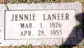 LANEER, JENNIE - Johnson County, Arkansas   JENNIE LANEER - Arkansas Gravestone Photos
