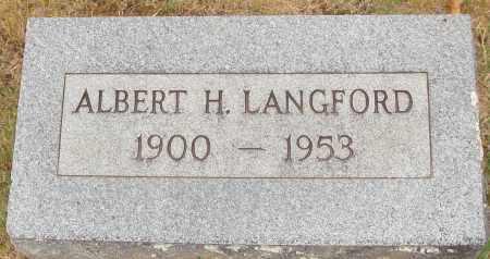 LANGFORD, ALBERT H. - Johnson County, Arkansas   ALBERT H. LANGFORD - Arkansas Gravestone Photos