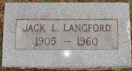 LANGFORD, JACK L. - Johnson County, Arkansas | JACK L. LANGFORD - Arkansas Gravestone Photos