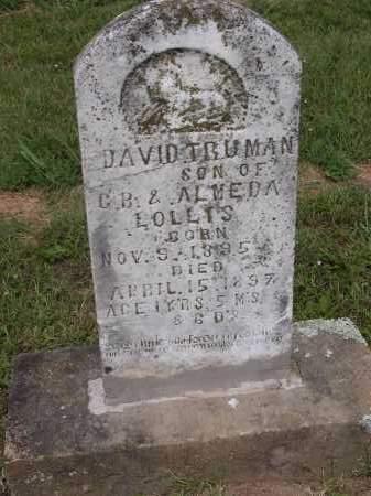 LOLLIS, DAVID TRUMAN - Johnson County, Arkansas | DAVID TRUMAN LOLLIS - Arkansas Gravestone Photos