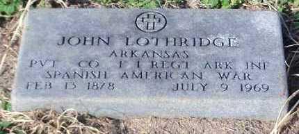 LOTHRIDGE (VETERAN SAW), JOHN - Johnson County, Arkansas | JOHN LOTHRIDGE (VETERAN SAW) - Arkansas Gravestone Photos