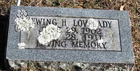 LOVELADY, EWING H - Johnson County, Arkansas   EWING H LOVELADY - Arkansas Gravestone Photos