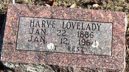 LOVELADY, HARVE - Johnson County, Arkansas   HARVE LOVELADY - Arkansas Gravestone Photos