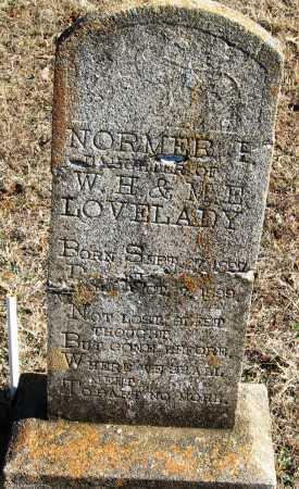 LOVELADY, NORMER E - Johnson County, Arkansas | NORMER E LOVELADY - Arkansas Gravestone Photos