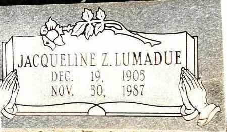 LUMADUE, JACQUELINE Z - Johnson County, Arkansas | JACQUELINE Z LUMADUE - Arkansas Gravestone Photos