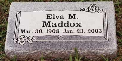 MADDOX, ELVA M - Johnson County, Arkansas   ELVA M MADDOX - Arkansas Gravestone Photos