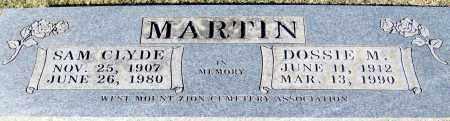 MARTIN, SAM CLYDE - Johnson County, Arkansas | SAM CLYDE MARTIN - Arkansas Gravestone Photos