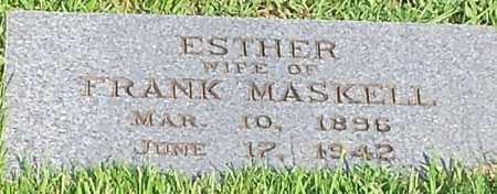 HESS MASKEL, ESTER - Johnson County, Arkansas | ESTER HESS MASKEL - Arkansas Gravestone Photos