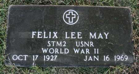 MAY  (VETERAN WWII), FELIX LEE - Johnson County, Arkansas | FELIX LEE MAY  (VETERAN WWII) - Arkansas Gravestone Photos