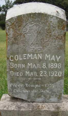 MAY, COLEMAN - Johnson County, Arkansas | COLEMAN MAY - Arkansas Gravestone Photos