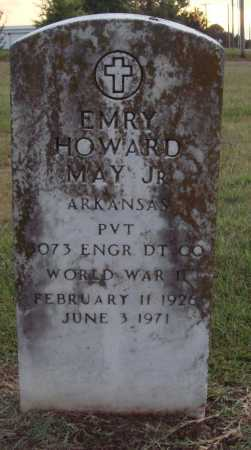 MAY, JR (VETERAN WWII), EMERY HOWARD - Johnson County, Arkansas | EMERY HOWARD MAY, JR (VETERAN WWII) - Arkansas Gravestone Photos