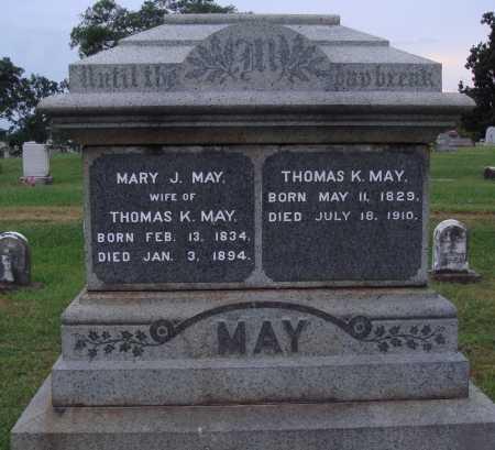 MAY, THOMAS K. - Johnson County, Arkansas   THOMAS K. MAY - Arkansas Gravestone Photos