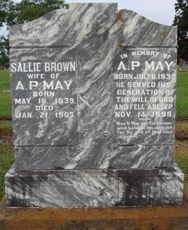 BROWN MAY, SALLIE - Johnson County, Arkansas | SALLIE BROWN MAY - Arkansas Gravestone Photos