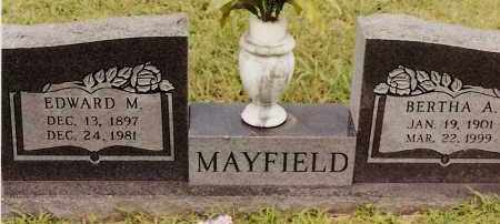 MAYFIELD, EDWARD M - Johnson County, Arkansas   EDWARD M MAYFIELD - Arkansas Gravestone Photos