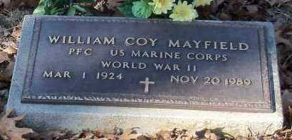 MAYFIELD (VETERAN WWII), WILLIAM COY - Johnson County, Arkansas | WILLIAM COY MAYFIELD (VETERAN WWII) - Arkansas Gravestone Photos