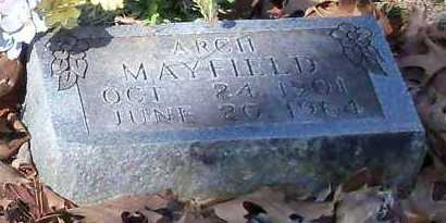 MAYFIELD, WILLIAM ARCH - Johnson County, Arkansas | WILLIAM ARCH MAYFIELD - Arkansas Gravestone Photos