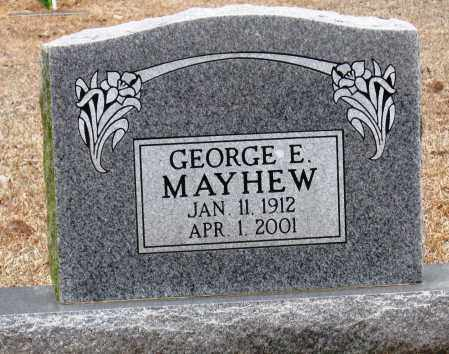 MAYHEW, GEORGE E - Johnson County, Arkansas | GEORGE E MAYHEW - Arkansas Gravestone Photos