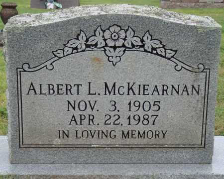MCKIEARNAN, ALBERT L. - Johnson County, Arkansas   ALBERT L. MCKIEARNAN - Arkansas Gravestone Photos