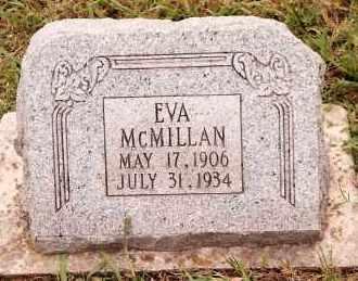MCMILLAN, EVA - Johnson County, Arkansas   EVA MCMILLAN - Arkansas Gravestone Photos