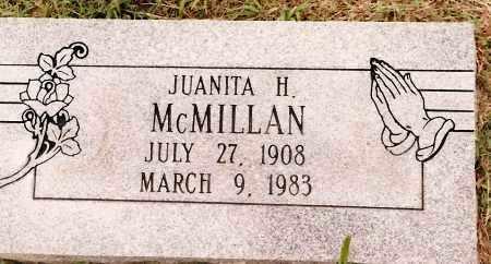 MCMILLAN, JUANITA H. - Johnson County, Arkansas   JUANITA H. MCMILLAN - Arkansas Gravestone Photos