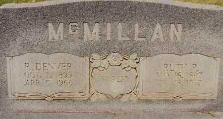 MCMILLAN, R. DENVER - Johnson County, Arkansas | R. DENVER MCMILLAN - Arkansas Gravestone Photos