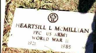 MCMILLIAN  (VETERAN WWII), HEARTSILL L - Johnson County, Arkansas   HEARTSILL L MCMILLIAN  (VETERAN WWII) - Arkansas Gravestone Photos