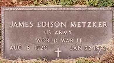 METZKER  (VETERAN WWII), JAMES EDISON - Johnson County, Arkansas | JAMES EDISON METZKER  (VETERAN WWII) - Arkansas Gravestone Photos