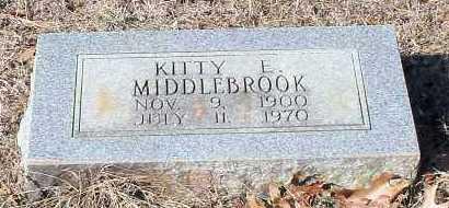 MIDDLEBROOK, KITTY E - Johnson County, Arkansas | KITTY E MIDDLEBROOK - Arkansas Gravestone Photos