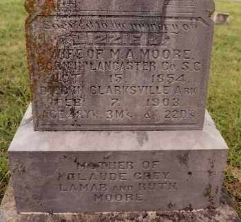 MOORE, LIZZIE J. - Johnson County, Arkansas | LIZZIE J. MOORE - Arkansas Gravestone Photos