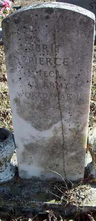 PIERCE  (VETERAN WWII), BRIT - Johnson County, Arkansas | BRIT PIERCE  (VETERAN WWII) - Arkansas Gravestone Photos